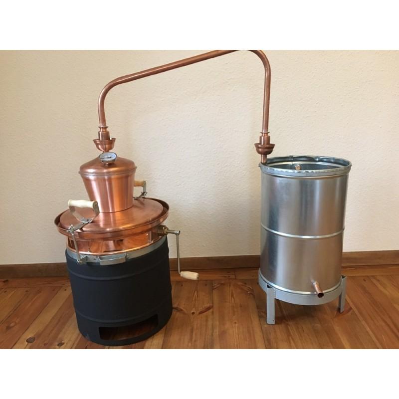Měděná palírna 30L destilační přístroj, destilátor, kolona