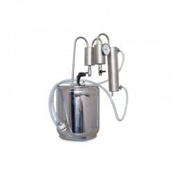 Destilační přístroj 5L - 50L destilátor, palírna, lihovarník, vinopalník, chlazení, dvojitý odkalovač