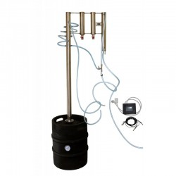 Destilační přístroj 50L, destilátor, palírna, lihovarník, vinopalník - automatický elektrický
