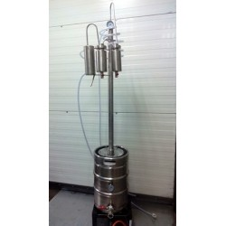 Dvouplášťový automatický destilační přístroj, destilátor, palírna, kolona - automatický elektrický, spodní plášť