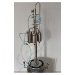 Dvouplášťový automatický destilační přístroj, destilátor, palírna, kolona - automatický elektrický, celkový plášť